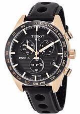 Tissot Men's PRS 516 Black Dial Leather Strap Chronograph Watch T1004173605100