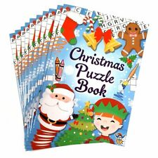 Set of 10 Christmas Puzzle Books - Christmas Xmas Stocking Fillers Girls Boys Ki