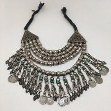 352 Grams, Vintage Afghan Tribal Kuchi Jingle Chain ATS Pendant Necklace, KN422