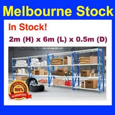 2m x 6m Steel Metal GARAGE STORAGE WAREHOUSE SHELVING RACKING Shelves 4 Bay