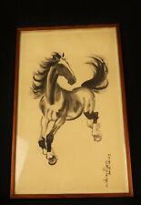 8243:Japan.Tusche Bild,Pferd,Schriftzeichen,KAKEMONO,Karl Vonderbank,Frankfurt