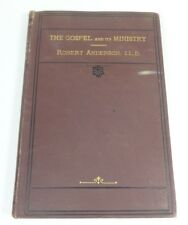 Gospel and It's Ministry by Anderson (1876, 1st Ed. Hardcover) Antique Religious