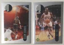 Michael Jordan 1998 UD Sticker Series Gray Base 2 lot