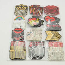 120pcs/set Mixed Mouth/crown /Lipstick/rainbow Embroidered Iron On Patches
