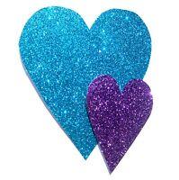 Handmade Card Birthday Anniversary Valentines Thank You Glitter Love Hearts 3D