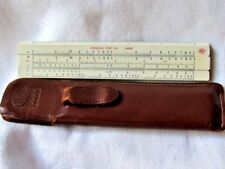 Frederick Post  1444K Slide Rule Hemmi Bamboo Vintage Japan Leather Case  EUC