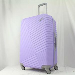 """AMERICAN TOURISTER TRIBUTE DLX 24"""" HARDSIDE SPINNER SUITCASE PURPLE"""