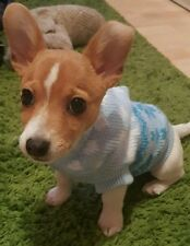 Chihuahua Size XSmall Cosy Blue Knitted Hoodie Jumper Pet Dog Clothes