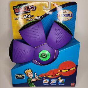 Goliath Phlat Ball V3 Throw A Disc Catch A Ball Dark Purple Green Waterproof NEW