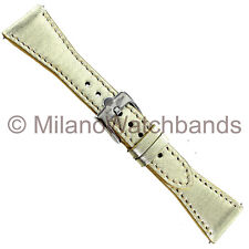 22mm Glam Rock Gold Tone High Quality Patent Calf Stitched Watch Band