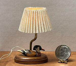 Vintage Artisan B GIBSON '89 Duck Lamp Works Dollhouse Miniature 1:12