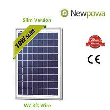 NewPowa High Effciency 10W 12V Poly Solar Panel Module Marine Off Grid 3ft wire