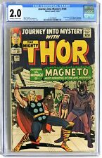 S716. JOURNEY INTO MYSTERY #109 Marvel CGC 2.0 GD (1964) MAGNETO Cover by KIRBY