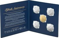 RAM 2019 50c UNC Five Coin Set with gold plated coin -50th anniversary 50c coin