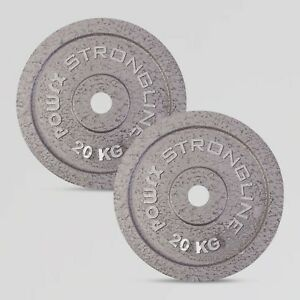 POWRX Hantelscheiben Set Dynamik Pro Langhanteln Gusseisen Gewichte | 5 - 40 kg