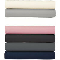 Extra Deep 40cm Fitted Bed Sheets 100% Poly Cotton Single Double King Super King