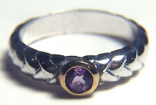 TORELLO STERLING SILVER SOPHISTICATED WOMENS/GIRLS RING SZE 8 WITH 4 MM AMETHYST