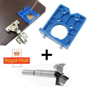 ABS Concealed Hinge Hole Jig For Kitchen Cabinet Doors With Drill Bit Tool W