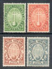 VATICANO 1933 - ANNO SANTO SERIE CPL. 4 VAL. MLH* (FIRMATI)