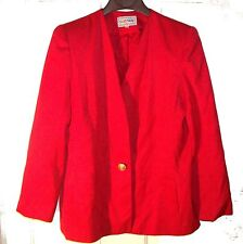 Sz 14 - Suits Me Red Suit Jacket Sz 14