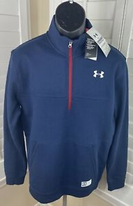 Under Armour Game Day Collection 1/2 Zip Blue Pullover - Men's Size Medium - NWT