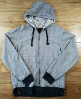 Tony Hawk Men's Full Zip Hoodie Jacket Plaid Size Medium