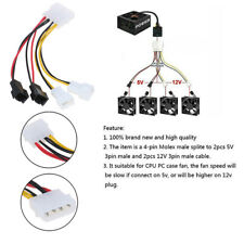 PC 4-Pin Molex/IDE to 3-Pin CPU/Chasis/Case Fan Power Cable Adapter Connec RI