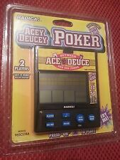 ACE DEUCE 2 PLAYER RED DOG POKER HANDHELD LCD GAME RADICA Tested