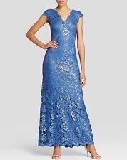 A blue sequin cap sleeve dress from Tadashi Shoji ALT1191LZ WEDOD