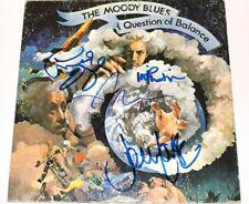 THE MOODY BLUES BAND SIGNED 'A QUESTION OF BALANE' VINYL ALBUM RECORD W/COA x4
