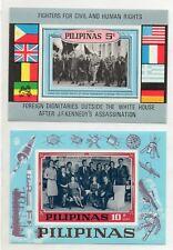 PHILIPPINES Unissued 1968 JFK Memorial Souvenir 5c+10p World Leaders Family MNH