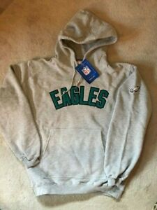 Philadelphia Eagles Men's Embroidered Logo Hoodie Sweatshirt Gray w/ pocket NWT