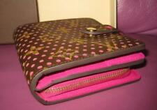 NEW AUTHENTIC LOUIS VUITTON PERFORATED COMPACT ZIP WALLET FUCHSIA FUSHCIA