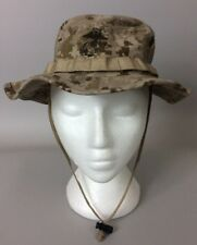Authentic USMC Desert Camo Boonie Cover/Hat, Small, Like New