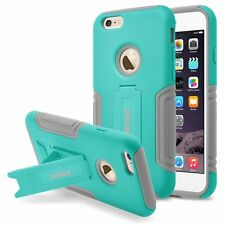 RANZ Apple iPhone 6 Plus/ 6S Plus Mint Hybrid Armor with Kick-Stand Case