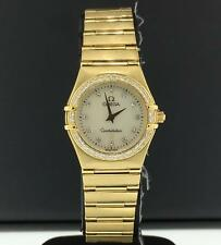 Omega Constellation 25mm Ladies 18k Yellow Gold Factory Diamonds Ref. 11777500
