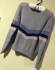 Rails Sz M Alpaca Wool Blend Perci Lakeside Chevron Gray Blue Sweater NWT T2