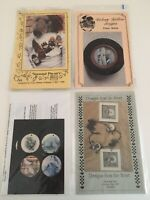 VINTAGE LOT OF 4 CHRISTMAS Tole Painting PATTERNS COUNTRY FOLK PIN-ONS-12 DAYS