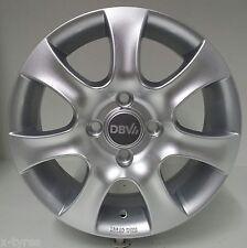 4 Stück DBV Lappland Alufelgen 6,0*15 ET44 4/100 Silber VW Golf / Vento 3206014