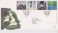 GB ROYAL MAIL FDC FIRST DAY COVER 2000 STONE & SOIL STAMP SET KILLYLEAGH PMK