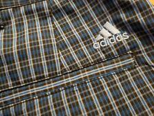 New Adidas Golf Shorts Plaid Flat Front Men's 32 - Free Shipping