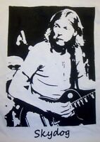 Duane Allman t shirt w Les Paul guitar Vintage Style skydog SM-5XLG  ice grey sq