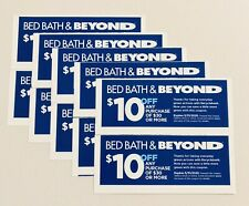 (10) Bed Bath & Beyond Coupons $10 Off $30