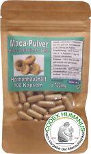 100 Stück Kapseln à 500 mg Maca Stress Hormonhaushalt Stoffwechsel Immunsystem