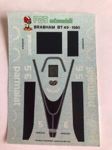 1/43 F1 DECALS CAR BRABHAM BT 49 1980 GRAND PRIX GP DECAL Car Collection