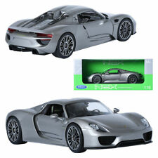 Porsche 918 Spyder Cabriolet Gray Metallic 1 18 WELLY