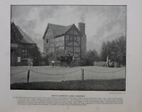1896 London Stampa + Testo Queen ELIZABETH'S Lodge Chingford