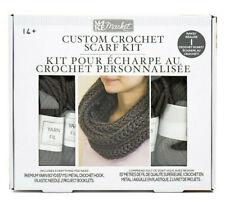New Diy Custom Crochet Scarf Kit - Yarm - Crochet Hook - Needle - Instructions