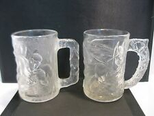 Batman Forever Movie Glass Mugs Batman and Robin 1995 McDonalds