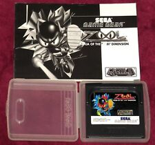 SEGA GAME GEAR - ZOOL! CARTRIDGE & MANUAL EUR REGION FREE RETRO CLASSIC RARE FUN